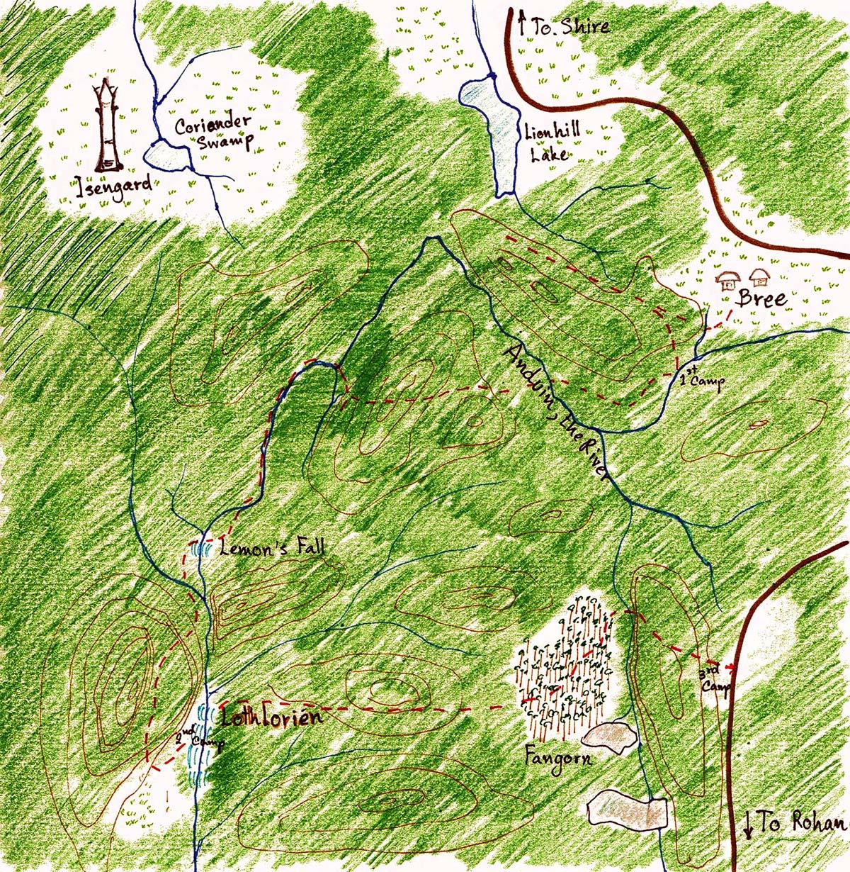 map Falls of Grand Pooh